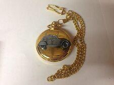 Citroen 2CV ref37 Pewter Effect Car on a polished Gold Case Pocket Watch