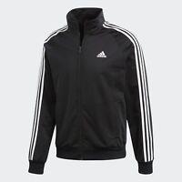Adidas Men's Essentials 3 Stripe Track Tricot Jacket Navy, Black