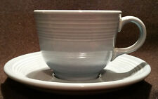 Homer Laughlin Fiestaware Cup and Saucer in Light Blue
