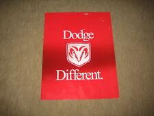 2000 Dodge Durango Dakota Stratus Avenger Neon Caravane USA prospectus brochure