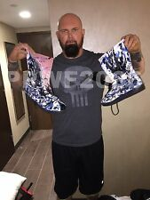 WWE LUKE GALLOWS RING WORN HAND SIGNED THE CLUB BOOTS WITH PICTURE PROOF COA 1