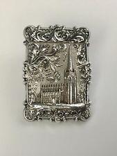 Antique Victorian Repousse Silver Card Case
