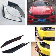 4X Carbon Fiber / ABS Car SUV Body side Front Bumper Splitter Wing spoiler / lip