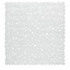 "Carnation Home Stall Size""Pebbles"" Vinyl Bath Mat in white"