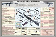 Plakat DIN A1 AK74M Kalaschnikow Sowjetarmee Poster Sowjetunion