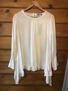 BUTTERSCOTCH SILKY TOP - WHITE - SIZE SMALL (10)