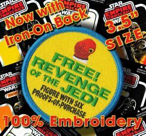 "Kenner STAR WARS ""FREE Revenge of the Jedi"" Admiral Ackbar Vintage3.5"" patch"