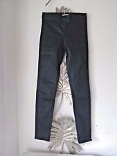 Spray on wax jeggings green uk size 6 skinny leg brand new