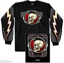 T-Shirt ML PUNK ROCK SKULL - Taille XL - Style BIKER HARLEY