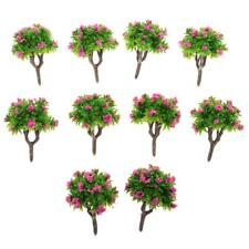 10x 1:200 Painted Model Tree Rose Red Flower DIY Railway Landscape Accessory