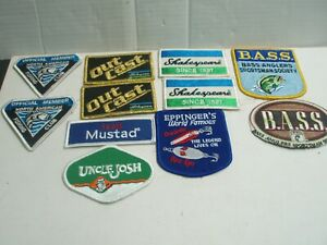 FISHING PATCHES NEW   11 PATCHES