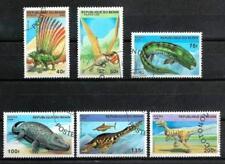 Animaux Préhistoriques Bénin (29) série complète 6 timbres oblitérés