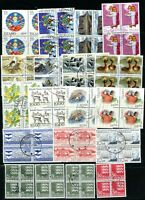 ICELAND, DENMARK & GREENLAND GROUP IN 19 BLOCKS OF FOUR CAT= $95.00