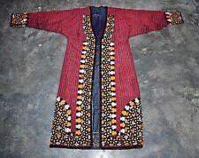 Vintage hand embroidered Turkomen Silk Kaftan Uzbek Chapan UNISEX CULTURAL
