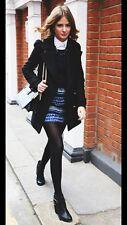 ZARA Blue Aztec Jacquard Pattern Skirt  Embroidered Mini Skirt Medium M MULTI