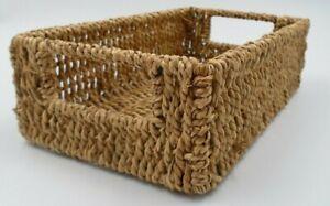 Seagrass Basket Decor Organizer Towels Storage Home  Rustic Natural 11x6.5x3.5