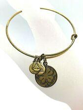 Alex and Ani Bracelet Brass Tone Lucky Shamrock Bangle Energy Jewelry Ireland