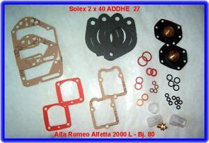 Rep.Kit Solex 40 ADDHE 27 für zwei Vergaser,carburetor kit for two carbs,Alfetta