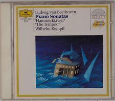 BEETHOVEN: Piano Sonatas 17 & 29 Kempff DGG CD Full Silver USA Orig NM