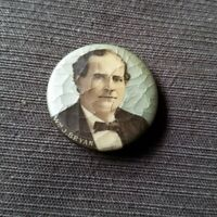 Vintage 1900 William Jennings Bryan Color Campaign Button By Whitehead & Hoag