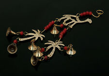 Camel & Coconut Tree Chime With Polished Brass Bells About 15 Inch String