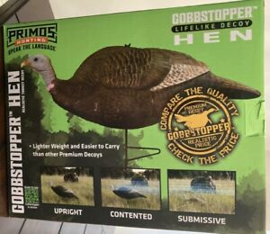Primos Hunting Gobbstopper Turkey Hen Decoy - Realistic Hunting , Calls