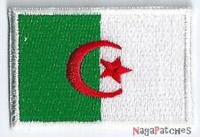 Écusson petit patche patch drapeau thermocollant Algérie  45 x 30 mm
