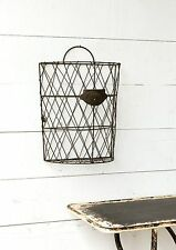 Wire Mail Basket~Farmhouse Decor~Hanging Wall Pocket