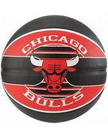 Spalding NBA Team Chicago Bulls Durable Rubber Cover Outdoor & Kids Basketball