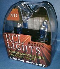 Ultra White/Blue H11 Xenon Halogen HID Low Beam Headlights Bulbs 8000K