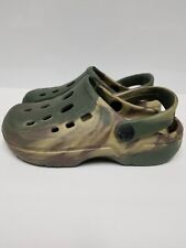 Camouflaged, Youth, Unisex, Green Beige & Purple, Water shoes, Slippers, Size 1