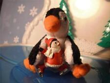 Christmas Holiday Plush Soft Penguin Skating Figure for Loving Family Dollhouse