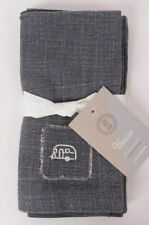 set/2 Pottery Barn Airstream Icon Patch cotton napkins, gray *qty available