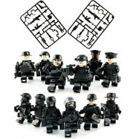 12 PCS SWAT POLICE Military Mini figures Weapon Army SS Soldier Fit Lego Toys