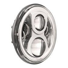"""JW Speaker 8700 7"""" Round LED Headlight Chrome Evolution 2 - 97-06 Jeep Wrangler"""