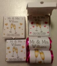 Wedding Party Favours 50 x Loveheart rolls and chocolate squares