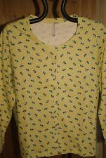 Blancheporte Cardigan jersey coton imprimé minimaliste jaune t 46-48 neuf