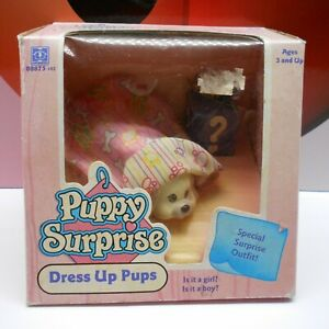 PUPPY SURPRISE DRESS UP PUPS Baby Pup Pink Hasbro 1992 Special Outfit Vintage