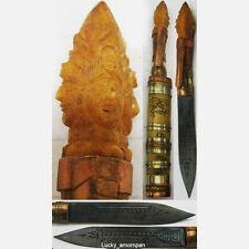 Meed Mor Magic Knife Phra Prom 4 Face Carve LP Kee Thai Amulet Talisman Pendant