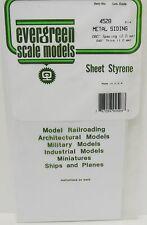"Evergreen Sheet Styrene 4528 - Metal Siding 080"" (2.0mm)  Spacing,  040"" Thick"