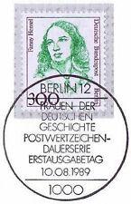 Berlin 1989: Fanny Hensel Nr 849 mit Ersttags-Sonderstempel vom 10.08.1989! 1904