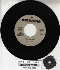 "JOHNNY CASH Ring Of Fire & It Ain't Me Babe 7"" 45 rpm + juke box title strip NEW"