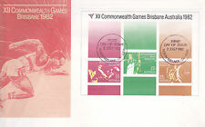 1982 XII Commonwealth Games Brisbane (Mini Sheet) FDC - North Adelaide 5006 PMK