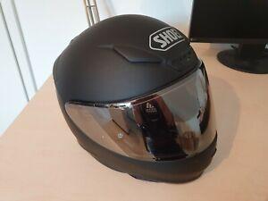 Motorradhelm Shoei NXR, Gr. M, mattschwarz, Visier silber