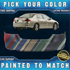 New Painted to Match - Rear Bumper Cover For 2006 2007 Honda Accord Sedan/Hybrid