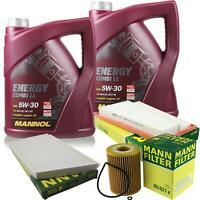 Motor-Öl 10L MANNOL 5W-30 Combi LL+MANN-FILTER Mercedes-Benz CLK C209 320 CDI