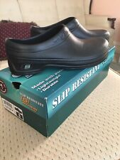 Sketchers Work Slip Resistant Synthetic Clogs Shoes Size 7 Womens Black