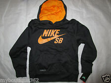 NIKE boys black pULLOVER hoodie therma fit SIZE SMALL new nwt