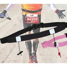 Sport Triathlon Marathon Belt Running Race Number Holder Waist Bib Belt Unisex H