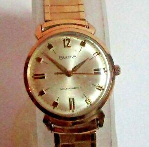 Vintage Bulova 1965 JET CLIPPER 11 ALAC  Self Winding Watch 10K Gold RGP Minty!